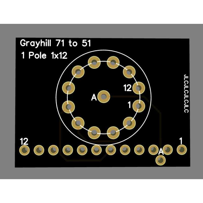 Adapateur Grayhill série 71 vers série 51 1D1P