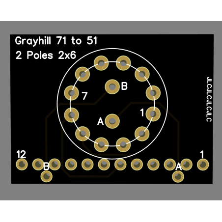 Adapateur Grayhill série 71 vers série 51 1D2P