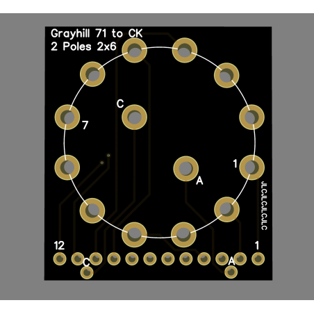 Adapateur Grayhill série 71 vers C&K 1D2P