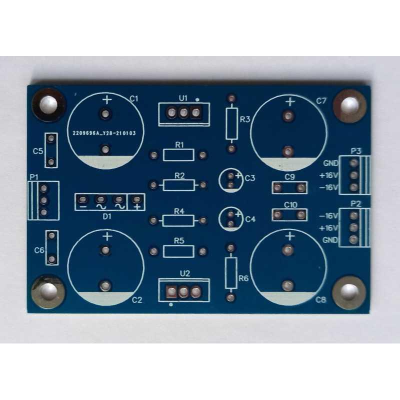 Power supply +16V -16V  PCB